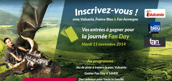 Auvergne : Fan Day 2014 à Vulcania