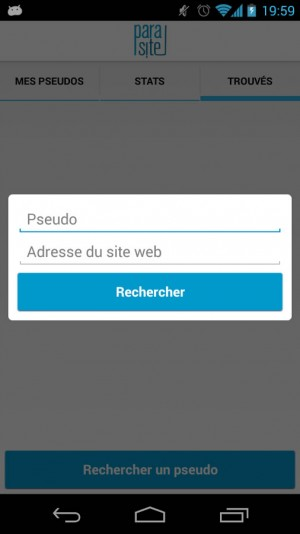 ParaSite App - Annuaire de pseudos - Gérer vos contacts