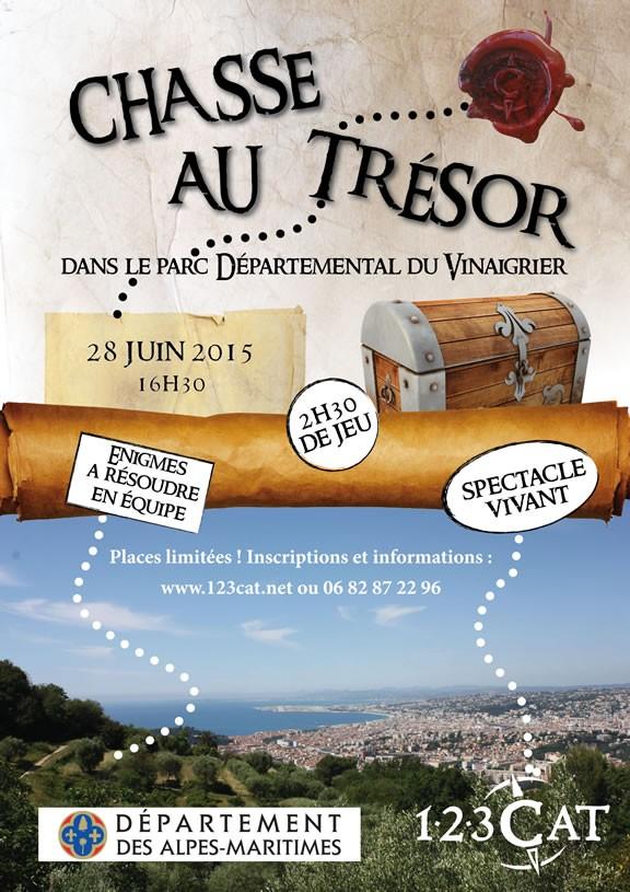 Chasse au trésor dans le parc départemental du Vinaigrier