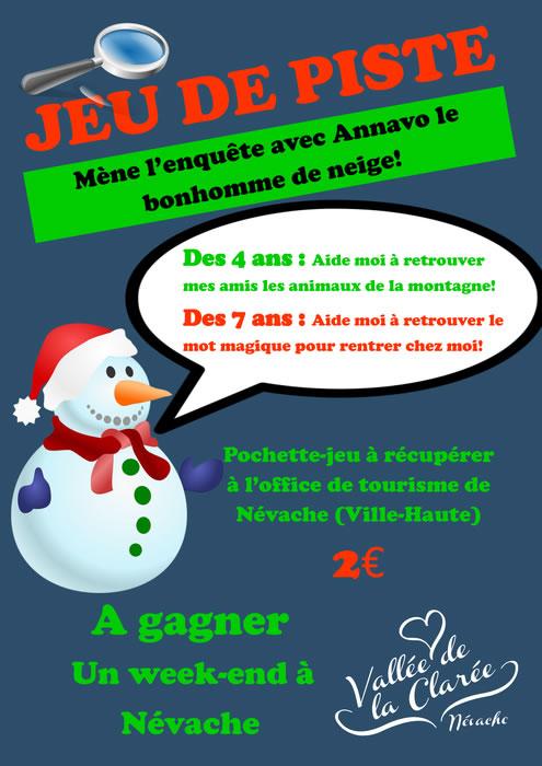 L'Office de Tourisme Névache - Plampinet - Vallée Étroite propose un jeu de piste pour les enfants pendant la saison d'hiver 2015-2016