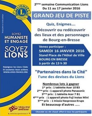 Lions Club : jeu de piste à Bourg-en-Bresse