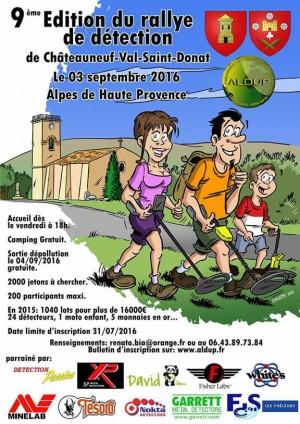 Alpes de Haute Provence : 9e édition du rallye de détection de l'ALDUP