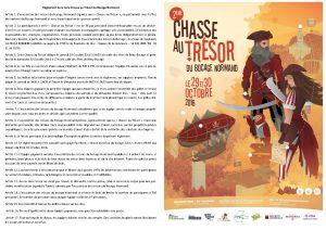 Deuxième chasse au trésor du bocage normand - Règlement