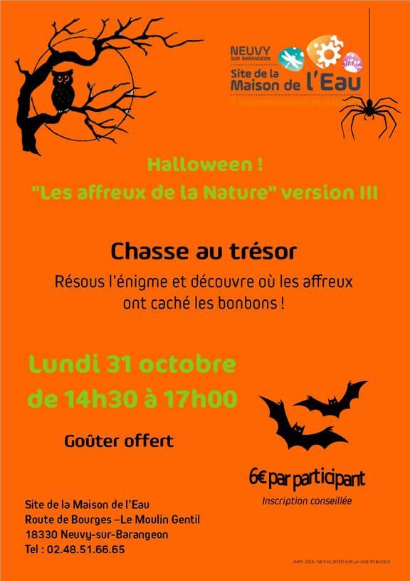 Jeu de piste d'Halloween du Site de la Maison de l'Eau