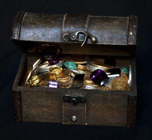 À la recherche du trésor perdu - Coffre au trésor