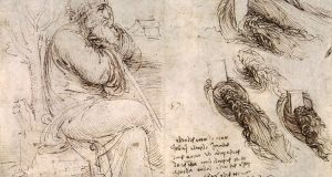 Léonard de Vinci - Old Man with Water Studies