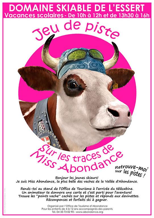Jeu de piste à skis - Sur les traces de Miss Abondance - sur le domaine skiable de l'Essert, à Abondance - Haute-Savoi