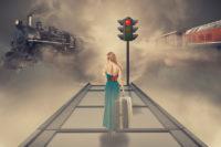 Femme - Téléphone - Train - Voyage