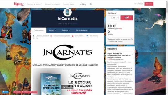 Le livre InCarnatis a 1 an et, à cette occasion, l'équipe InCarnatis lance une cagnotte sur le site Tipeee