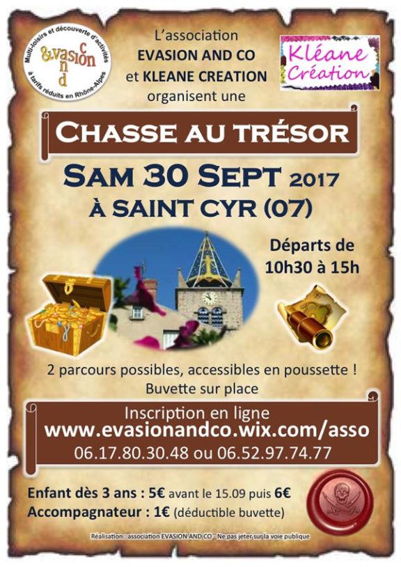Ardèche - Chasse au trésor à Saint Cyr