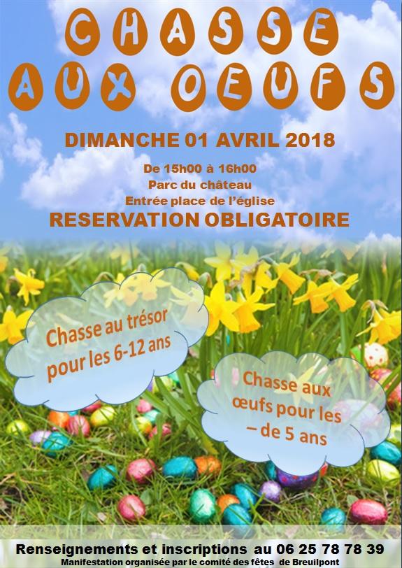 Chasse au trésor et chasse aux œufs à Breuilpont