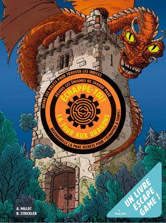 Livre escape game pour les enfants : Échappe-toi de la tour aux dragons