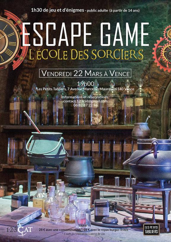 Escape game éphémère à Vence - L'école des sorciers