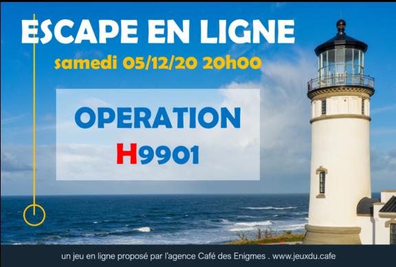 image de phare, affiche du jeu opération H9901 de l'agence Café des Enigmes