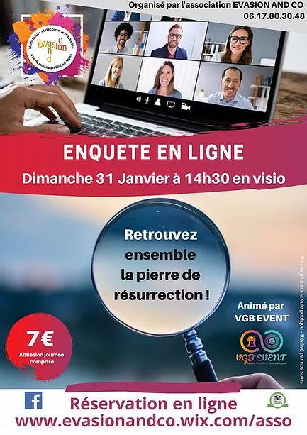 Enquête en ligne - Evasion and Co