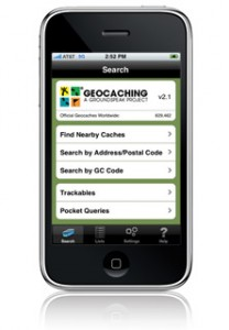 Geocaching sur iPhone